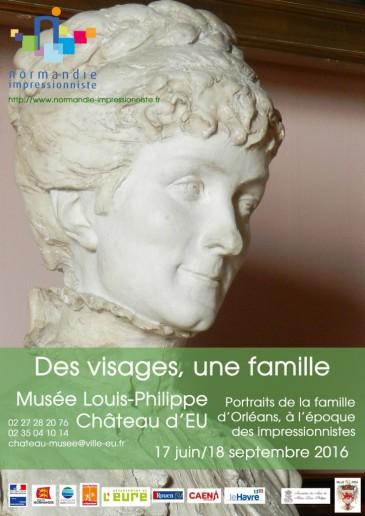 Exposition «Des visages, une famille» au château d'Eu