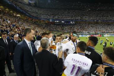 Le roi d'Espagne à la finale de la Champion's league