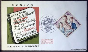 Timbre émis lors de la naissance de la princesse Stéphanie de Monaco