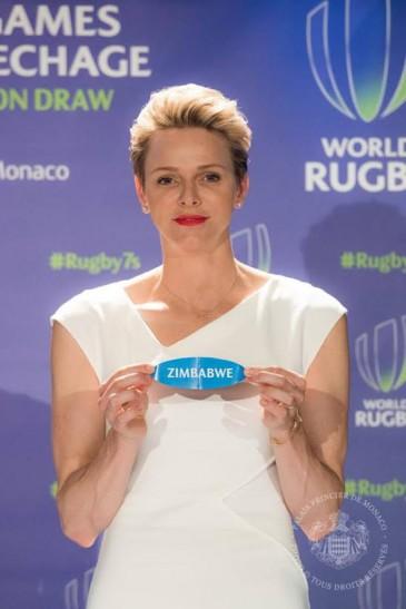 Charlène de Monaco : tirage au sort de rugby