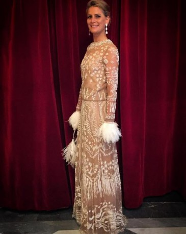 Tatiana de Grèce à l'opéra de Rome