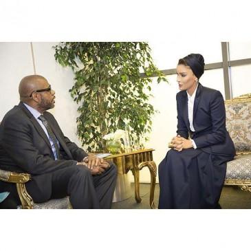 Rencontre entre la sheikha Mozah et Forest Whitaker