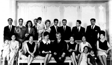 Archives : la famille impériale d'Iran en 1963