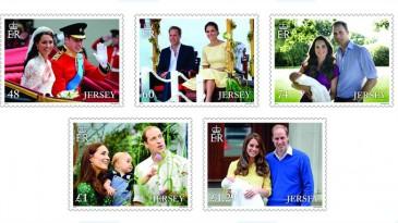 Timbres pour les 5 ans de mariage du duc et de la duchesse de Cambridge