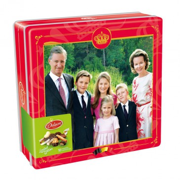 La boîte de biscuits «Delacre» royale