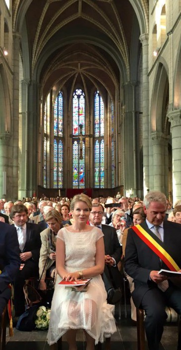 La reine Mathilde à l'abbaye de Val-Dieu