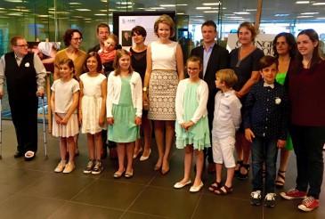 La reine Mathilde à l'hôpital universitaire de Louvain