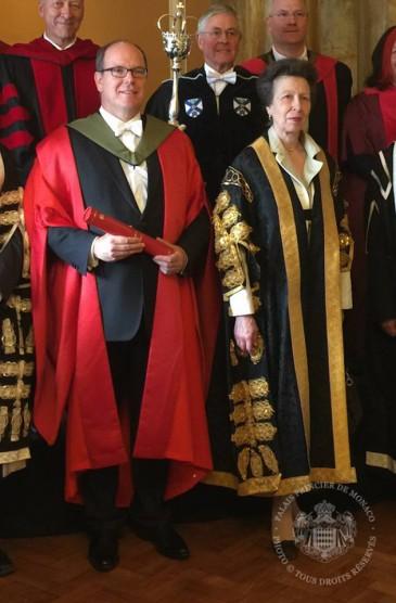 Albert de Monaco à l'université d'Edimbourg