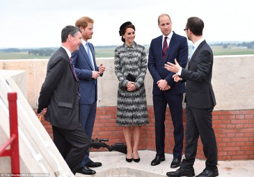 William, Kate et Harry à Thiepval
