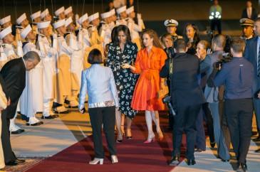 Lalla Salma du Maroc accueille Michelle Obama