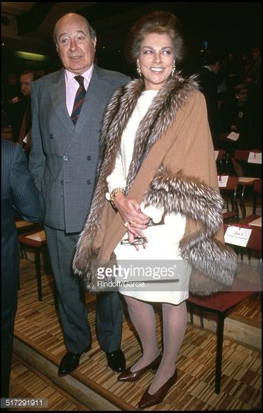 """ARCHIVES - ALEXANDRE ET BARBARA DE YOUGOSLAVIE AU DEFILE DE NINA RICCI, COLLECTION HAUTE COUTURE - PRINTEMPS ETE 1994 """""""