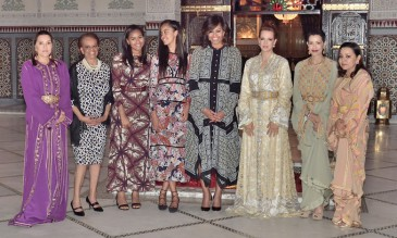 Dîner au Palais royal de Marrakech en l'honneur de Michelle Obama