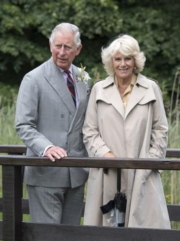 Charles et Camilla à une foire agricole