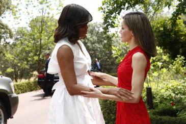 Letizia d'Espagne reçoit Michelle Obama