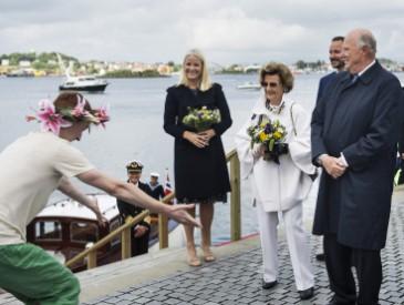 Jubilé du roi de Norvège à Stavanger