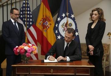 Les souverains espagnols à l'ambassade des Etats-Unis