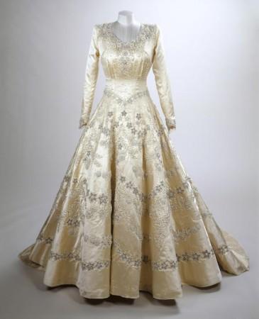 La robe de mariée d'Elizabeth II