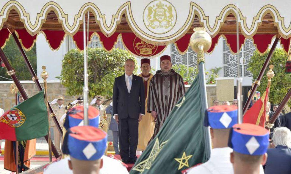 Le roi du Maroc reçoit le président du Portugal