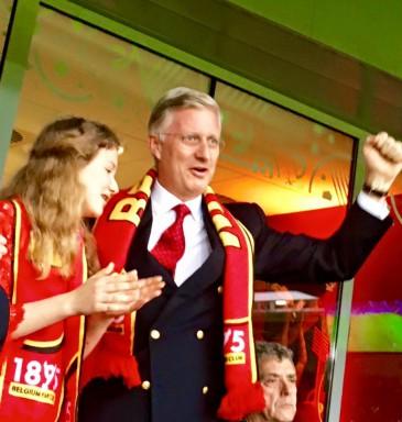 Philippe et Elisabeth de Belgique à Lille pour soutenir les Diables Rouges