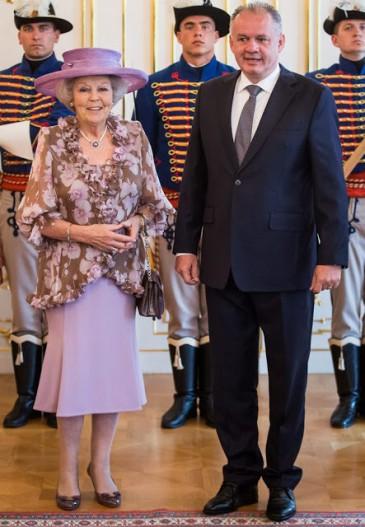 Beatrix des Pays-Bas en Slovaquie