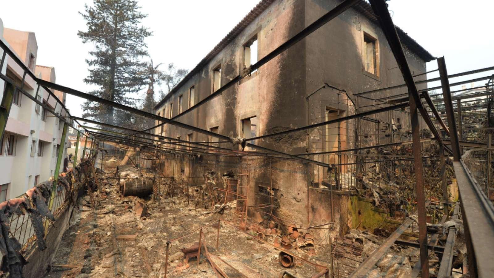 Eine-Feuerruine-in-Funchal-Braende-zerstoerten-hier-rund-200-Haeuser-drei-Menschen-kamen-ums-Leben