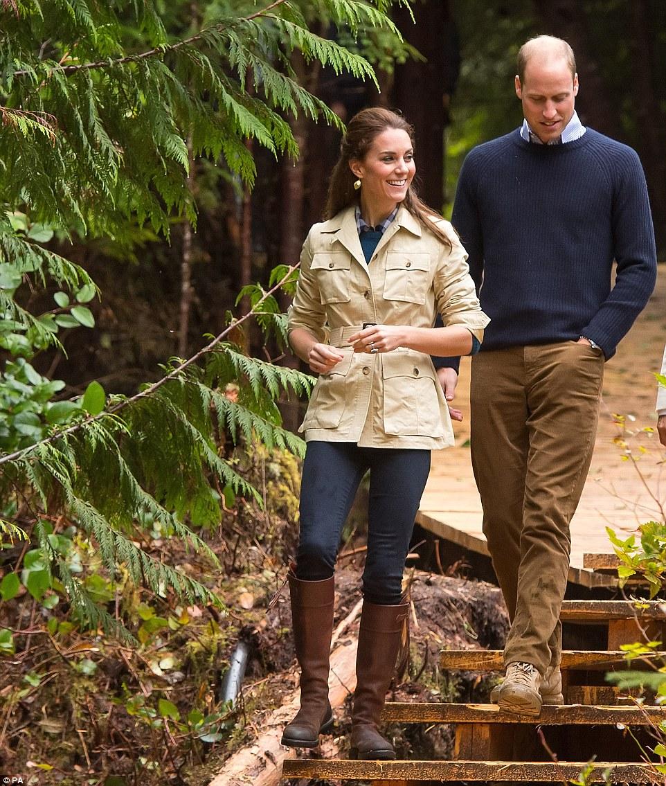 William et Kate : randonnée en forêt