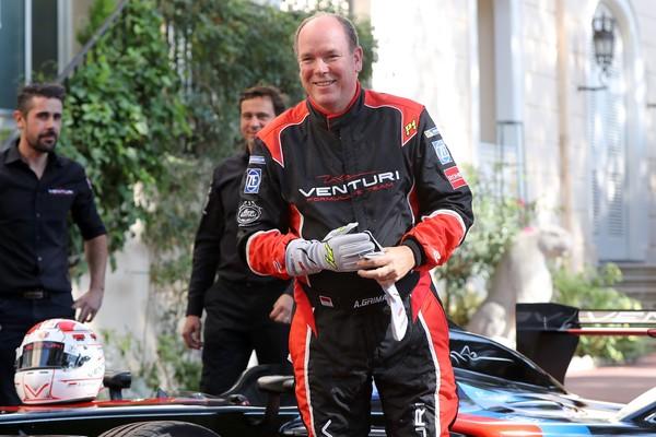 Albert de Monaci teste la Venturi Formule E