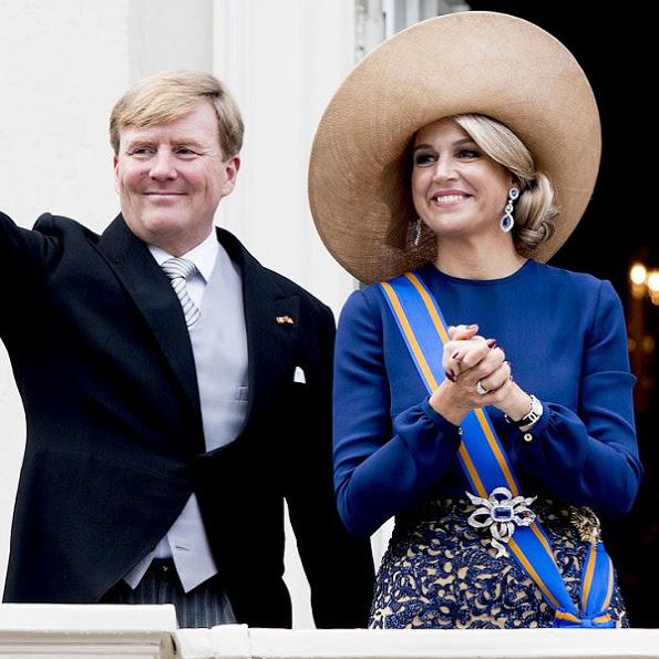 La broche de saphirs et diamants de la reine des Pays-Bas