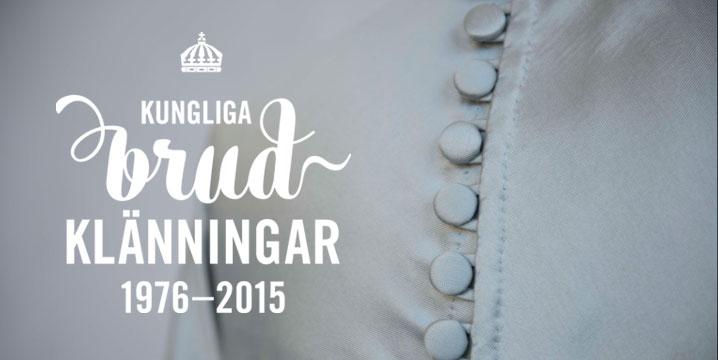 Exposition de robes de mariées au Palais royal de Stockholm