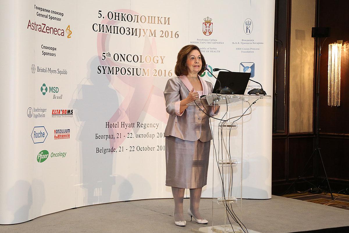 Katherine de Serbie inaugure le 5ème symposium d'oncologie de Belgrade