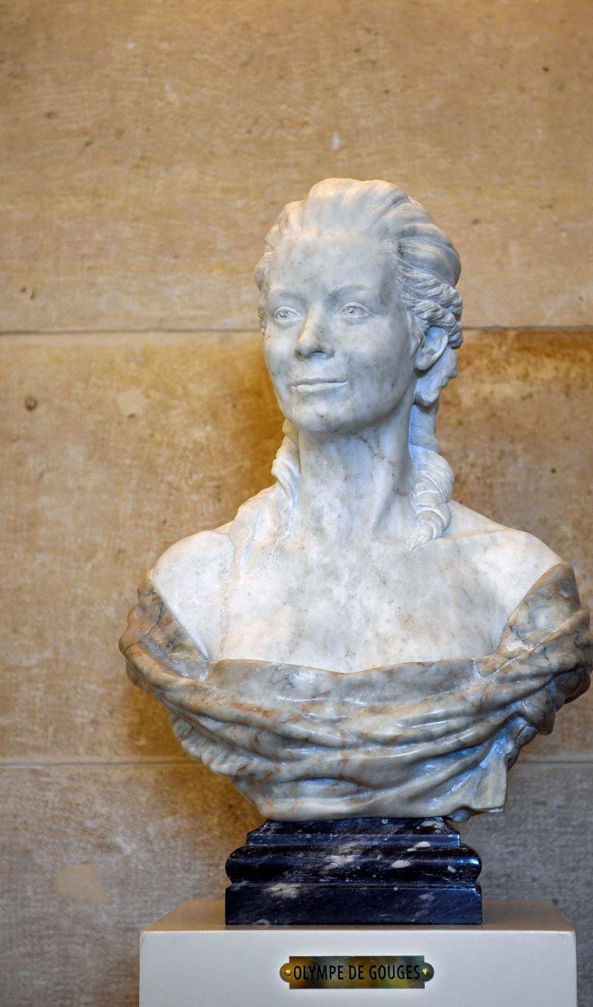 Un buste d'Olympe de Gouges au Palais Bourbon