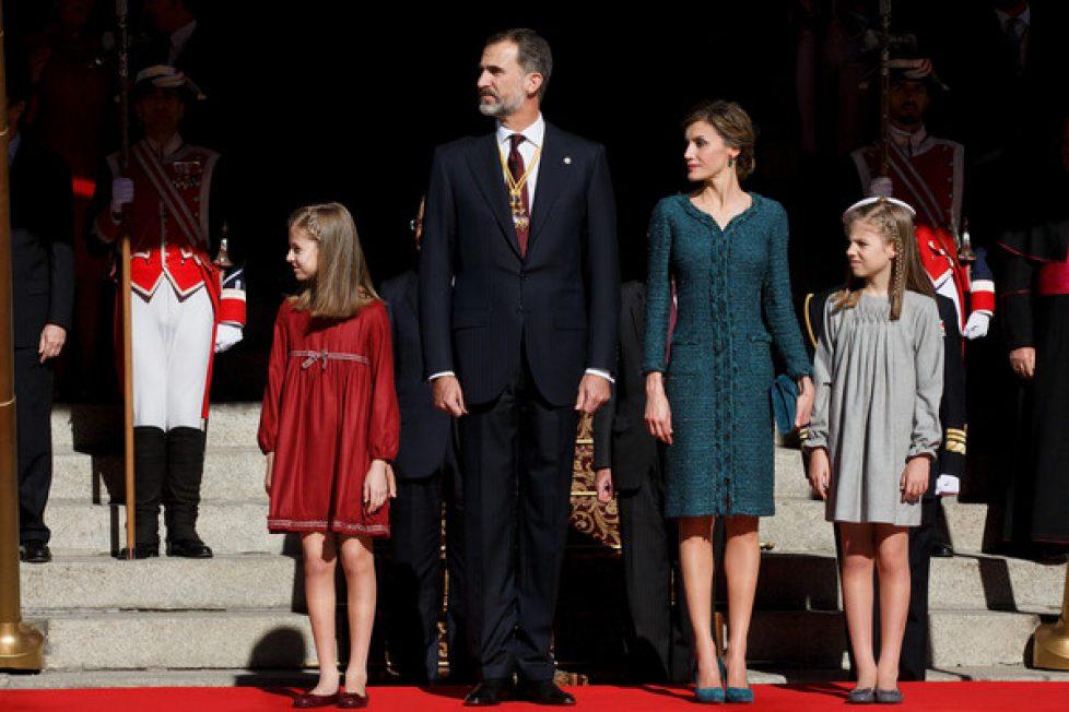 La famille royale espagnole à l'ouverture de la XIIème législature