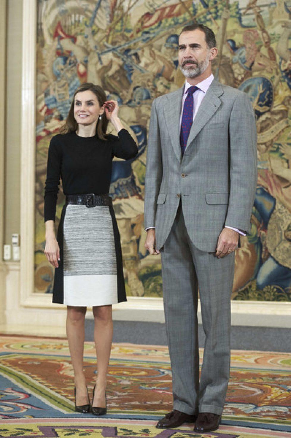 Felipe et Letizia d'Espagne reçoivent une délégation de RTVE