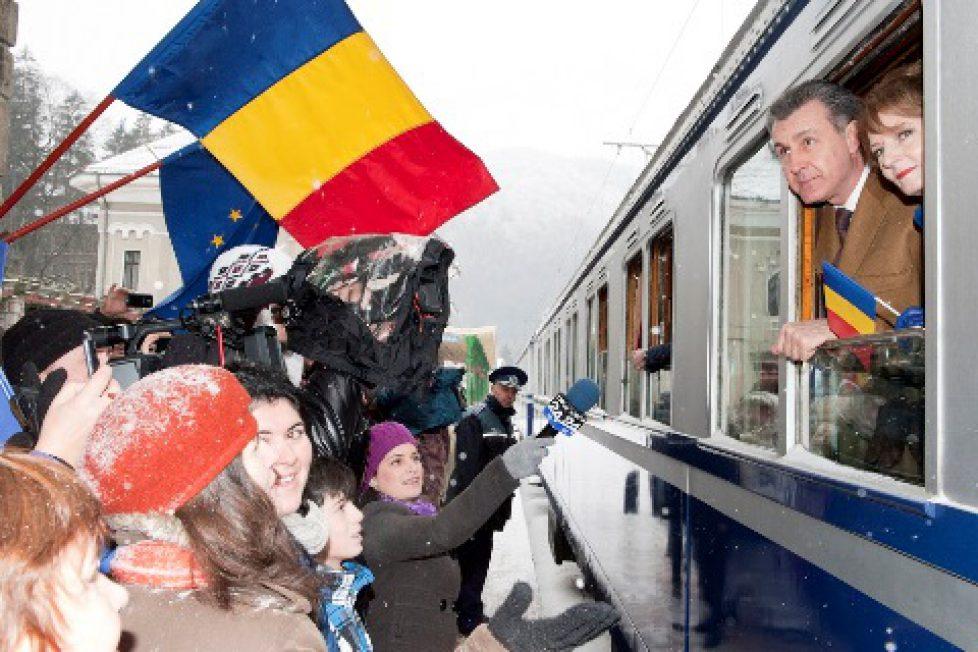 Sortie du train royal en Roumanie