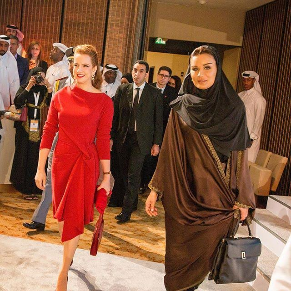 Lalla Salma du Maroc à Doha