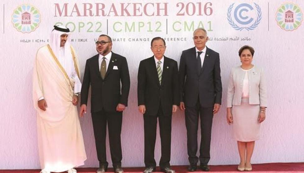 Le roi du Maroc et l'émir du Qatar à la Cop22