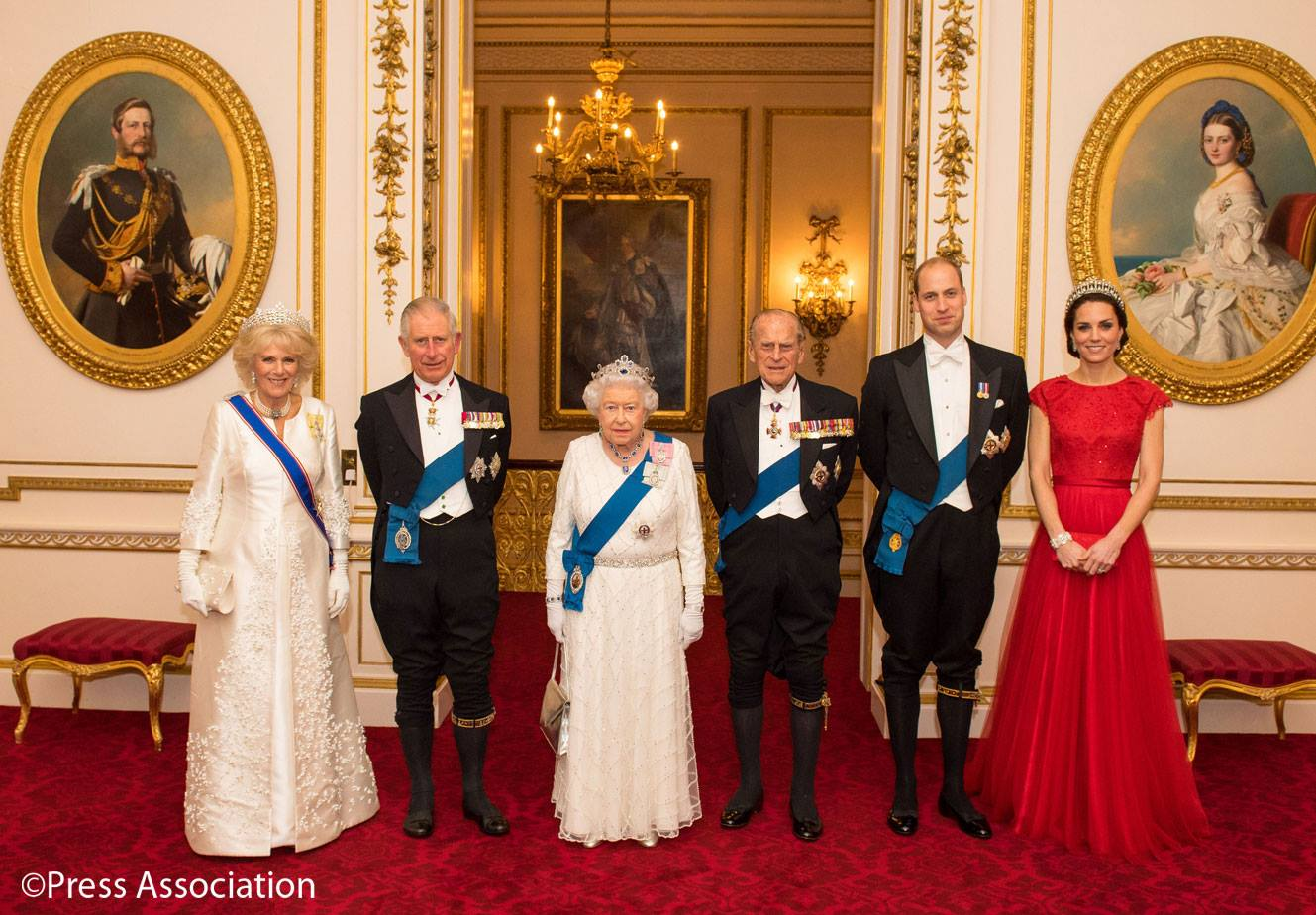 Dîner diplomatique à Buckingham