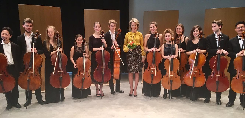 La reine Mathilde au Conservatoire royal d'Anvers