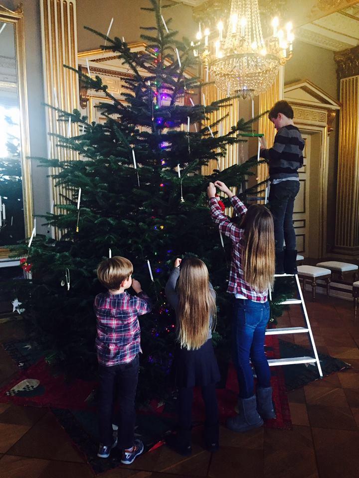 Décoration du sapin de Noël à Amalienborg