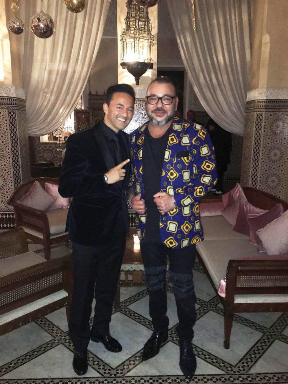 Le roi du Maroc à Marrakech