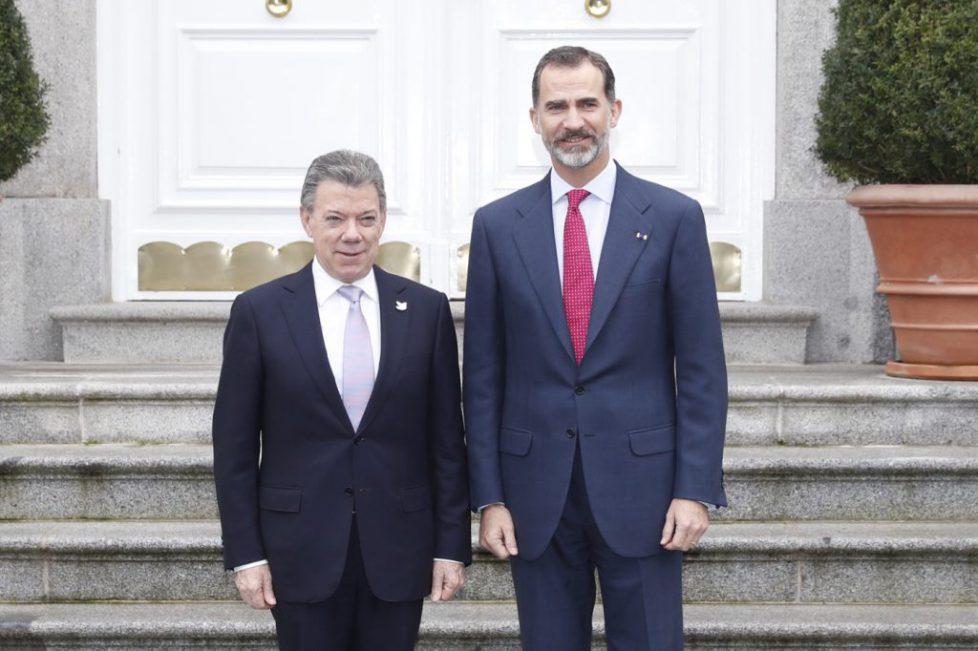 Le roi d'Espagne reçoit le président colombien
