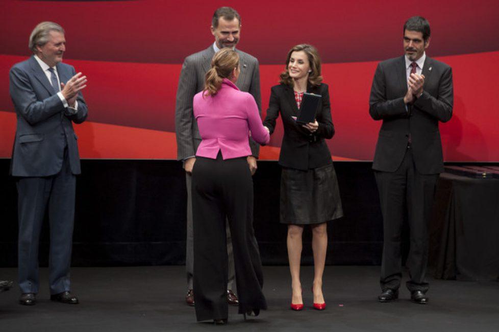 Les souverains espagnols à la remise de prix des Beaux-Arts