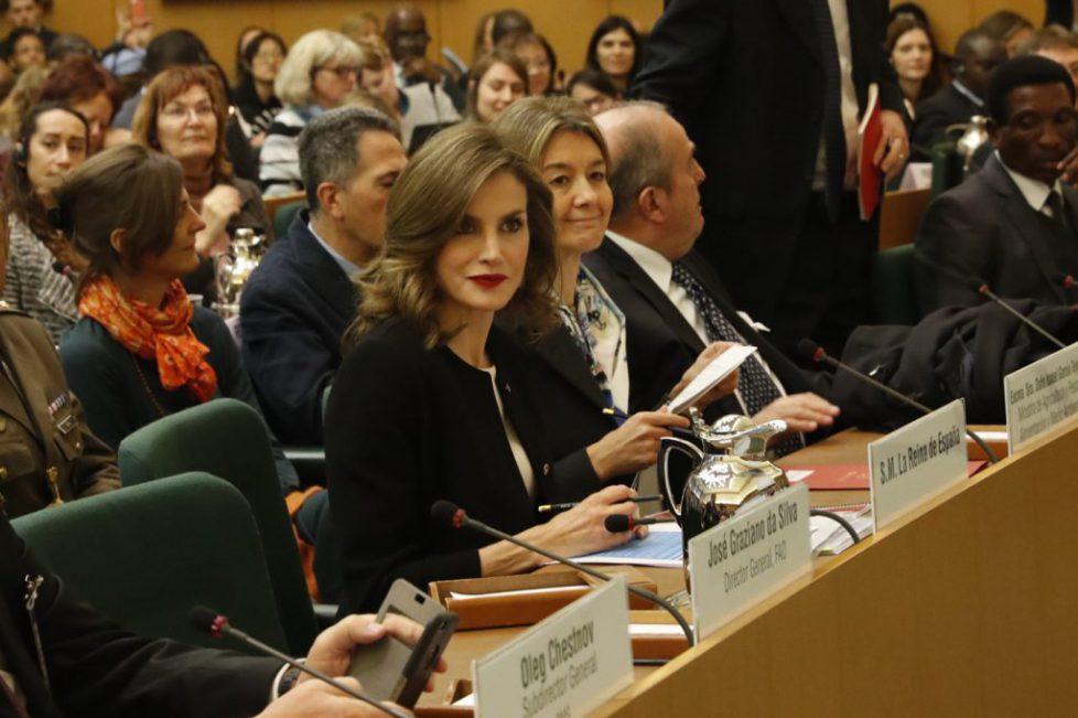 Letizia d'Espagne à Rome pour la FAO