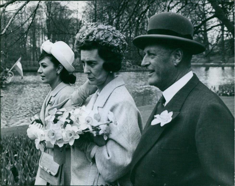Archives : visite royale au Keukenhof en 1962