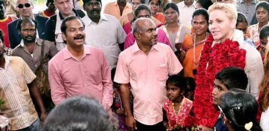 La princesse de Monaco en Inde pour les droits des enfants