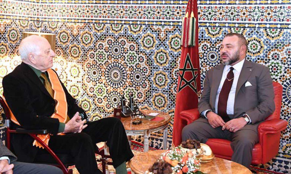 Le roi du Maroc reçoit Pierre Bergé