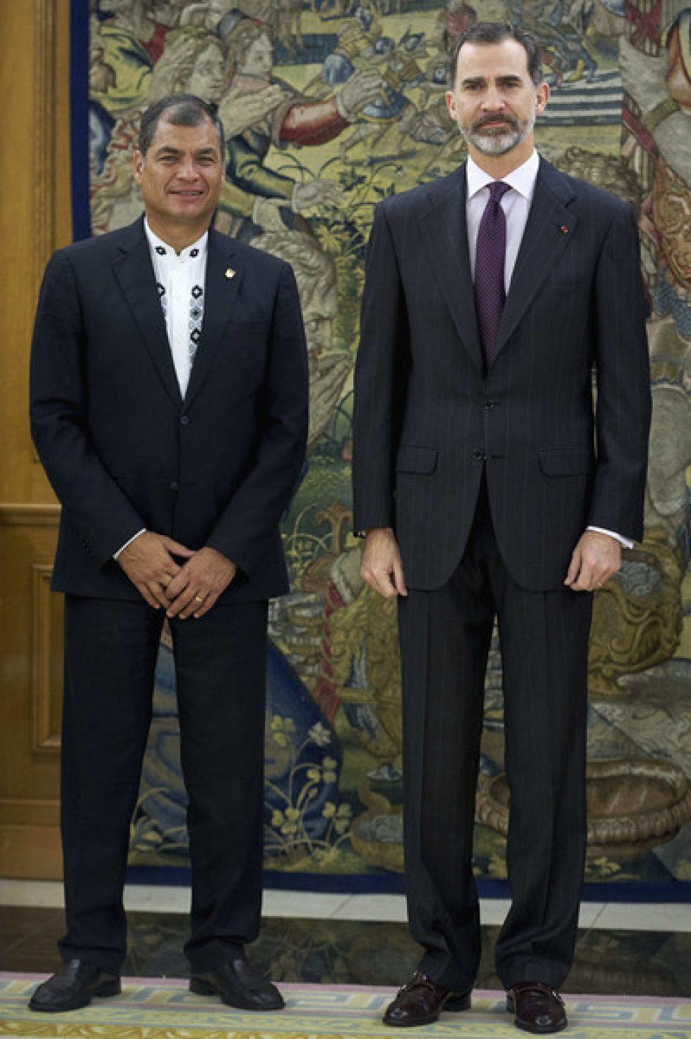 Le roi d'Espagne reçoit le président d'Equateur
