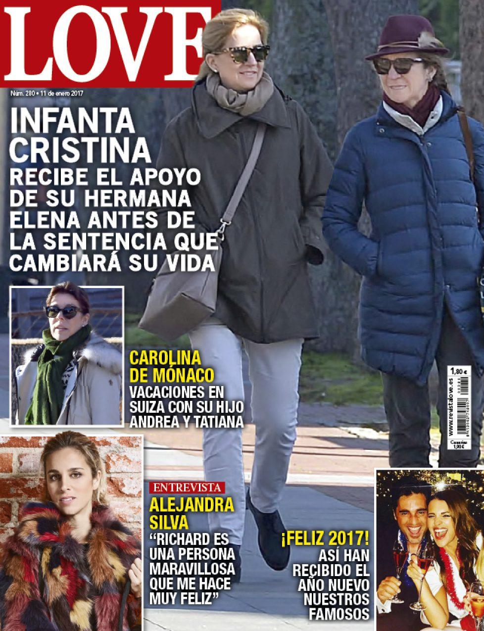Elena d'Espagne auprès de sa soeur Cristina