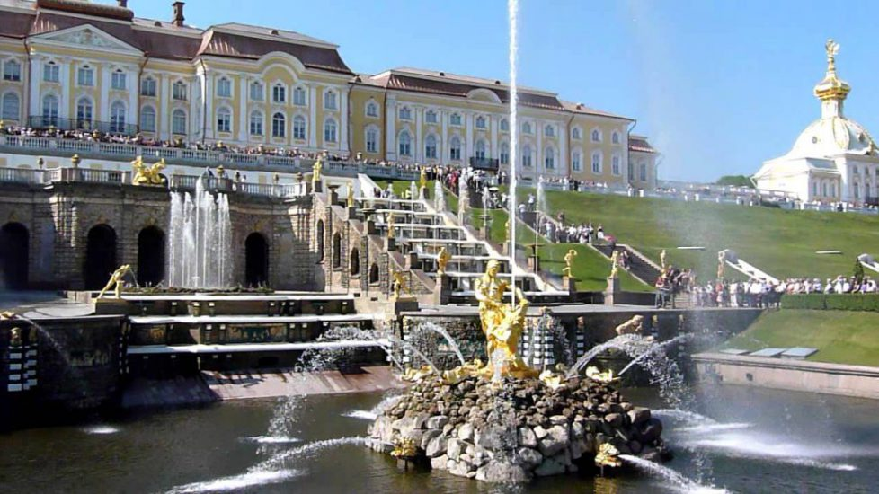 La grande cascade du palais Peterhof