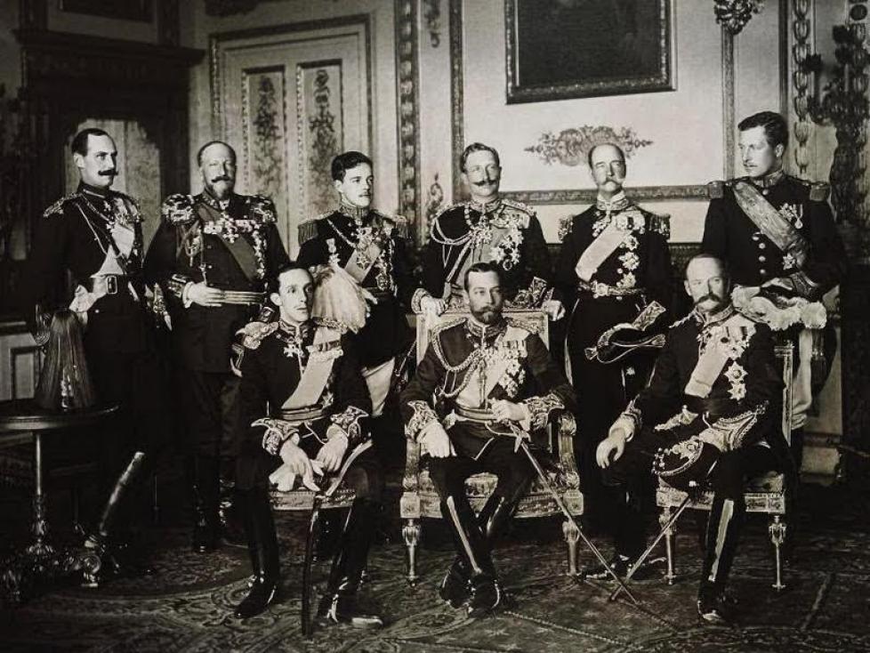 Archives : les souverains aux funérailles d'Edward VII